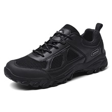 Men's Hiking Shoes Anti-Slip Breathable Wearable Comfortable Hiking Outdoor Exercise Spring, Fall, Winter, Summer Black Black,49