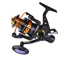 Fishing Reel Spinning Reel 5.0:1 Gear Ratio+14 Ball Bearings Sea Fishing / Bait Casting / Freshwater Fishing / Trolling & Boat Fishing / Hand Orientation Exchangable Hand Orientation Exchangable,Black,2000
