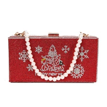 Women's Bags Synthetic Crossbody Bag Crystals Beading Textured Christmas 2020 Daily Going out Red Green Red
