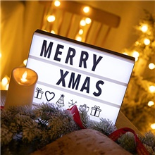 LED Combination Light Box Night Table Desk Lamp A4 A5 A6 DC 5V DIY Letters Symbol Cards Decor USB or Battery Powered Message Board White / Black,S