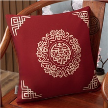 New Chinese Style Linen Blended Retro Pillow Case Cover Living Room Bedroom Sofa Cushion Cover Modern Sample Room Cushion Cover No,1,Square,45*45 cm
