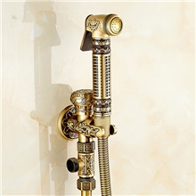 Bidet Faucet Antique Copper Toilet Handheld Bidet Sprayer Self-Cleaning Antique Bronze