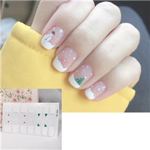 1 pcs New Christmas Nail Stickers Ins Cute Nail Stickers Waterproof And Tearable Nail Stickers Nail Stickers A01