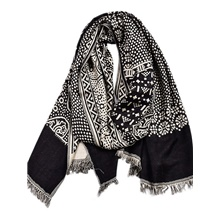 Men's Active Rectangle Scarf - Print Black,One-Size