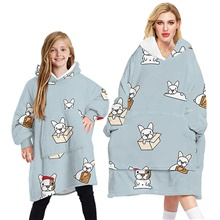 womens blanket hoodie sherpa blanket snuggle oversized sweatshirt fleece fluffy hoodies jumper flannel bathrobe wearable tv blankets penguin BWQG020-TWQG020,Adult models-free size