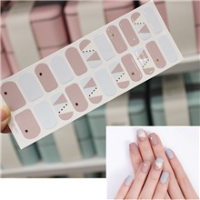 5 pcs Bronzing 3D Laser Nail Sticker Waterproof Color Christmas Letter Nail Sticker Full 22 Tips A01,5 PCS