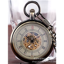 men's pocket watch ch641 Green patina