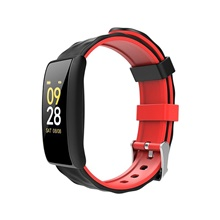 M8 0.96inch OLED Heart Rate Monitor Blood Pressure Oxygen Fitness Tracker Smart Bracelet Smartwatch band,Black / Red