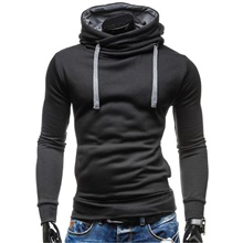 Men's Hoodie Solid Colored Hooded Casual Daily Sports Contemporary Active Hoodies Sweatshirts  Long Sleeve Slim Black Green Gray / Spring / Fall / Winter Black,S