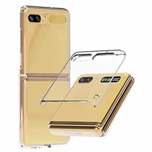 nukin, transparent polycarbonate case for galaxy z flip, premium hard coating slim case - clear One Color,One-Size
