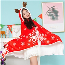 Santa Claus Cloak Girls' Kid's Costume Party Christmas Christmas Polyester Cloak Red,One-Size