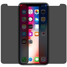 [2 pack] iphone x privacy screen protector, explosion proof anti-spy peeping privacy tempered glass screen protector film for apple iphone x (privacy iphone x) One Color,iPhone 11