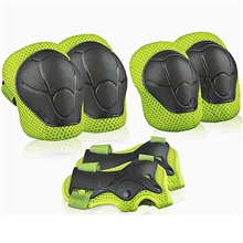 kids sports protective gear, children knee pads elbow pads wrist guards set for skating cycling bike and other outdoor sports (red) S#Average size 3~9 years old 30-70 kg,fluorescent green