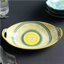 1-Piece Dining Bowl Creative Modern Style Porcelain Light Yellow,1