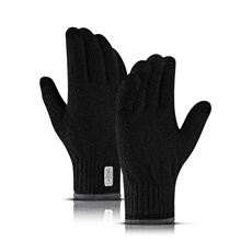 Winter Gloves Running Gloves Full Finger Gloves Touch Screen Thermal Warm Casual Outdoor Men's Women's Knit Skiing Hiking Running Driving Cycling Winter Black,L
