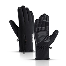Winter Gloves Running Gloves Full Finger Gloves Anti-Slip Touch Screen Thermal Warm Outdoor Cold Weather Men's Women's Zipper Skiing Hiking Running Driving Cycling Winter / Lightweight Black,M