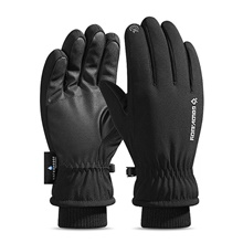 Ski Gloves Men's Women's Snowsports Full Finger Gloves Winter Waterproof Windproof Breathable Polyester / Cotton Skiing Snowsports Snowboarding Black,L