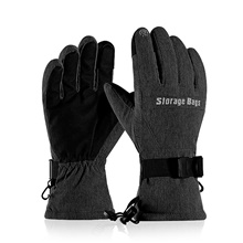 Ski Gloves Men's Women's Snowsports Full Finger Gloves Winter Waterproof Windproof Breathable Polyester / Cotton Skiing Snowsports Snowboarding Dark Grey,M
