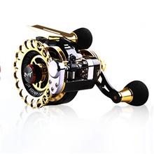 Fishing Reel Fly Reel 2.6:1 Gear Ratio+10 Ball Bearings Fly Fishing / Bass Fishing / Right-handed / Left-handed Left Handle,Gold