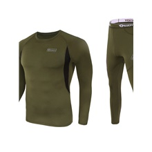 men's thermal underwear set, cold weather fleece lined sport long johns base layer-l ArmyGreen,S