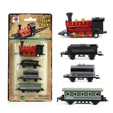 pull back toy,4pcs retro mini simulated steam train set pull back model kids children toy gift,red Red locomotive-85g