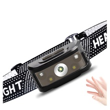 LED Headlamp Flashlight  2 LED Beads 1pc 5W USB Rechargeable Waterproof Multi-function Motion Detection Monitor Warm White+White 3.7 V Outdoor Lighting 3.7V,USB,5W,1 pc