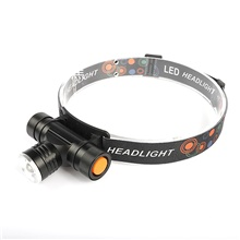 LED Headlamp Flashlight for Running Camping Outdoor Lighting 3 LED Beads 1pc 10W Light Control White 3.7 V USB,1,10W,1 pc,Irregular