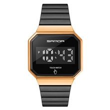 SANDA Men's Digital Watch Digital Sporty Minimalist Water Resistant / Waterproof Digital Rose Gold Black Blue / Two Years / Stainless Steel Rose Gold