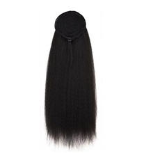 Clip In / On Ponytails Women / Best Quality / Kanekalon Hair Synthetic Hair Hair Piece Hair Extension Straight / Curly 20 inch Dailywear / Business / Date Natural Black #1B,20 inch