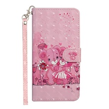 leather case for xiaomi redmi k30 / mi 9 8/ redmi note 9 pro / xiaomi mi 8 shockproof full body cases animal pu leather / tpu pink bear Mi 8,#1