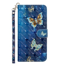 leather case for xiaomi redmi k30 / mi 9 8/ redmi note 9 pro /mi cc9 shockproof full body cases butterfly / animal pu leather / tpu case blue butterflies Mi 8,#1