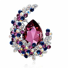 brooches for women, fashion rhinestone with swarovski crystal jewelry women's brooches & pins christmas gift Contact customer service for shipping details
