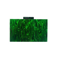 Women's Bags Acrylic Evening Bag Chain 2021 Party Date Green Green