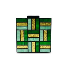 Women's Bags Acrylic Evening Bag Chain Color Block Geometry 2021 Party Daily Green Green