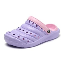 Women's Clogs & Mules Flat Heel Round Toe Daily EVA(ethylene-vinyl acetate copolymer) Purple Pink Light Pink Purple,US5.5 / EU36 / UK3.5 / CN35
