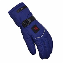 heated gloves for men women 3.7v 5000 mah rechargeable electric hand warmer thermal warm motorcycle winter cycling skiing (color : blue, size : large) Please contact customer service