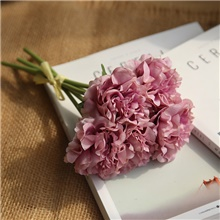 Artificial Peony Flowers Home Decor Wedding Party Decorative Flowers Bridal Flowers Bouquet Dark Pink,Irregular,M