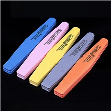 nail tool sponge frustration double-sided diamond sponge rubbing strip waterproof and durable polishing strip Rainbow