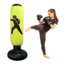 160 cm Inflatable Punching Bag Free Standing Boxing Punch Bag Sport Stress Relief Boxing Target Heavy Training Fitness Sandbag with Foot Air Pump Black digital models (new)