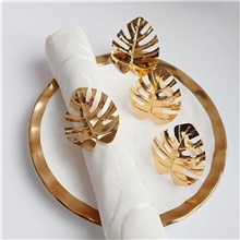 napkin rings set of 4 for christmas, dinner parties, holidays, dining table decoration handmade metal leaf napkin holder silver Gold,4 PCS,Leaves,20*16