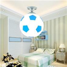 20cm Basketball Soccer Ball Ceiling Light LED Ceiling Lamp Football Style  Indoor Lighting Decor For Bar Bedroom Kids Room Lights Fixture Blue