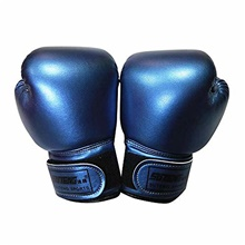 Kids Boxing Gloves Leather Boxing Gloves MMA Mitts Children Sparring Boxing Gloves for Kickboxing Fighting Punch Bags MMA Training Muay Thai Mitts Age 5-12 Years (Blue) Golden