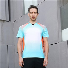 Men's Tennis Badminton Table Tennis Tee Tshirt Short Sleeve Breathable Quick Dry Moisture Wicking Sports Outdoor Autumn / Fall Spring Summer Light Blue / High Elasticity Light Blue,S