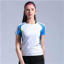 Women's Tennis Badminton Table Tennis Tee Tshirt Short Sleeve Breathable Quick Dry Moisture Wicking Sports Outdoor Autumn / Fall Spring Summer Blue Pink Green / High Elasticity Blue,S