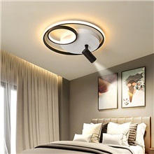 42/52 cm LED Ceiling Light With Spotlight Modern Black Gold Geometric Shapes Includes Dimmable Version Flush Mount Lights Metal Painted Finishes LED Nordic Style 220-240V Dimmable With Remote Control ( US $8.54) ,220-240V,Black,1 pc,42cm