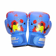 Children's Solid Boxing Gloves Sanda Fight Kickboxing Punching Sandbag Small Gloves Training Fight Age 3-10 (Blue) Pink