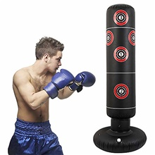 Inflatable Punching Bags Free Standing Kick Boxing Target Stand Heavy Boxing Bag Fitness Decompression Training at Home or The Gym for Adult and Children (Target) One-Size