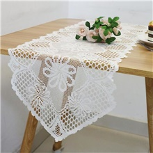Lace Table Ruinner Dust-proof Elegant Classic Table Cover Stai-proof Washable Oblong Table Cover for Kitchen Family Holiday Modern,White,1 pc,,32cm * 110cm (13' * 43')