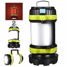 rechargeable camping lantern 800 lumen super bright portable survival tent lights 4000mah power bank ipx4 waterproof camping lamp for emergency, outdoor, hiking, fishing and home (green) HS portable lamp