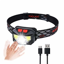 led head torch,usb rechargeable headlamp with super bright waterproof lightweight,6 lighting modes,motion sensor head lamp with waterproof for running,camping,hiking,climbing CA-H117